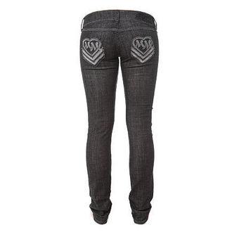 nohavice dámske (jeansy) METAL MULISHA 'Heart Love Skinny', METAL MULISHA
