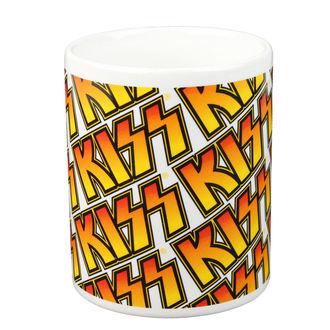 hrnček - KISS - Boxed Mug Kiss (Tiles) - ROCK OFF, ROCK OFF, Kiss