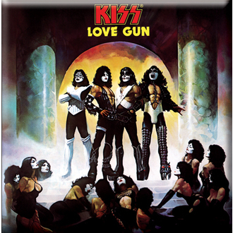 magnet Kiss - Love Gun Album Cover fridge Magnet - ROCK OFF, ROCK OFF, Kiss
