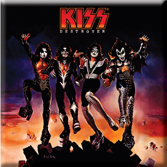 magnet Kiss - Destroyer Album Cover Fridge Magnet - ROCK OFF, ROCK OFF, Kiss