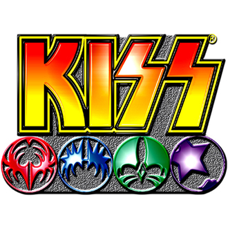 pripináčik Kiss - Logo Icons pin badge - ROCK OFF, ROCK OFF, Kiss