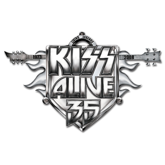 pripináčik Kiss - Alive 35 Tour pin badge - ROCK OFF, ROCK OFF, Kiss