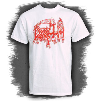 tričko pánske DEATH-CLASSIC LOGO WHITE - RELAPSE, RELAPSE, Death