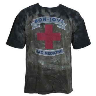 tričko pánske Bon Jovi - Bad Medicine - LIQUID BLUE, LIQUID BLUE, Bon Jovi
