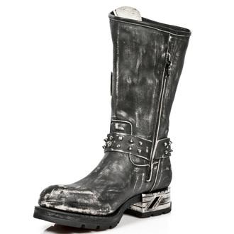topánky NEW ROCK - VINTAGE RASPADO MOTOROCK T.ACERO