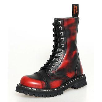 f4c154cae13 DOPRAVA ZADARMO topánky KMM 10dírkové - Red   Black