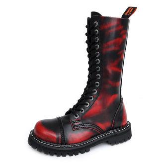 topánky KMM 14dírkové - Red/Black - 140/Z