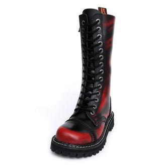 topánky KMM 14dírkové - Red/Black, KMM