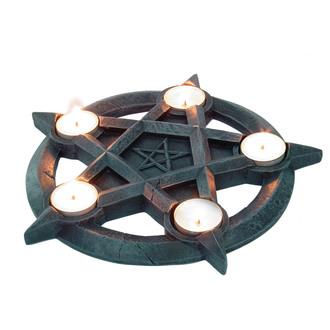 svietnik (dekorácia) Pentagram Tealights - NEM2273