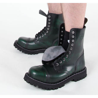 topánky STEEL - 10 dierkové zelené (105/106 Green)