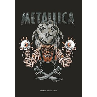 vlajka Metallica - Pirate, HEART ROCK, Metallica