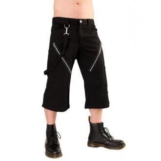 kraťasy 3/4 pánske Black Pistol - Zips Short Pants Denim Black, BLACK PISTOL