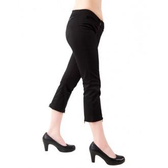 kraťasy 3/4 dámske Black Pistol - Zips Slacks Denim Black, BLACK PISTOL