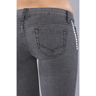 nohavice dámske VANS - Skinny Ankle Denim - Charcoal, VANS