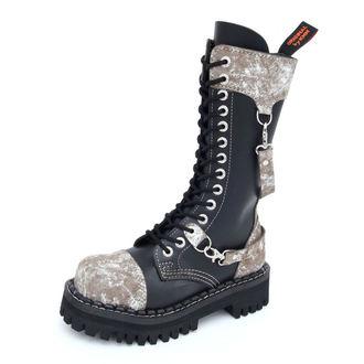 topánky KMM 14dírkové - Black/Grey, KMM