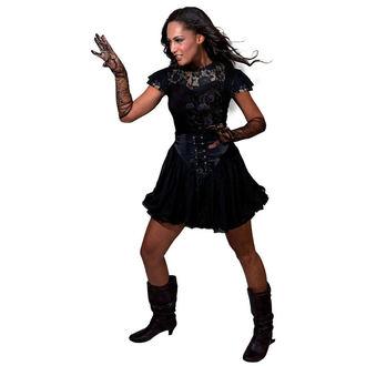 tričko dámske SPIRAL - Entwined - Lace Layered Viscos Blk