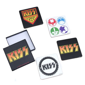 pivné podnosy Kiss - A Piece Coaster Set, ROCK OFF, Kiss