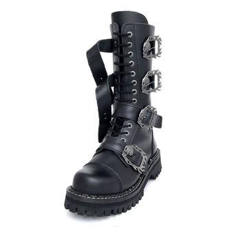 topánky KMM 14dírkové - Big Skulls Black Monster 4P - 140