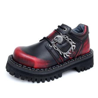 topánky KMM 4-dírky - Big Skulls Black Red Monster 1P, KMM