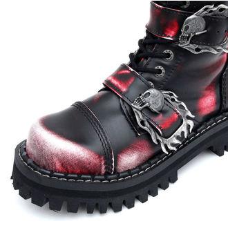 topánky KMM 20dírkové - Big Skulls Black Red White Monster 5P - 205