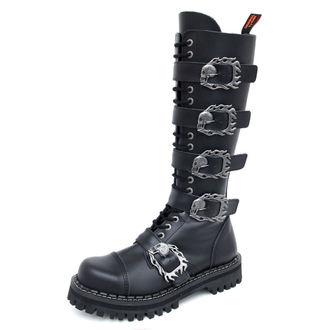 topánky KMM 20dírkové - Big Skulls Black Monster 5P, KMM