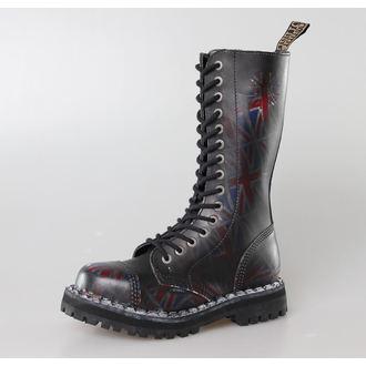 topánky STEEL -15 dierkové Union Jack Black (135/136 UK Black ), STEEL