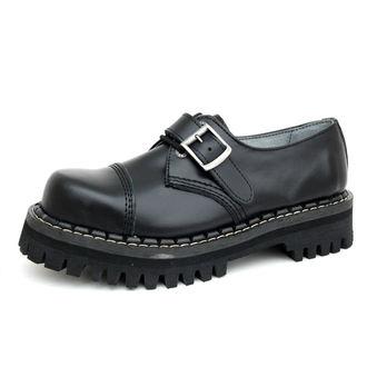 topánky KMM 3dírkové - Black s prackou - 030