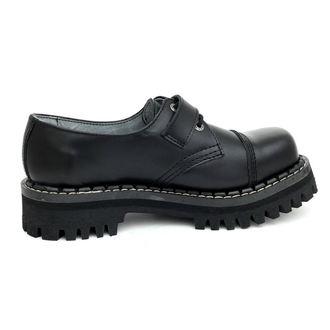 topánky KMM 3dírkové - Black s prackou, KMM