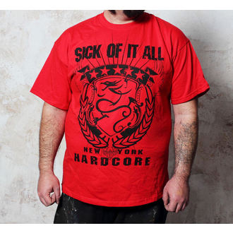 tričko pánske Sick Of It All - HC Crest - Red, Buckaneer, Sick of it All