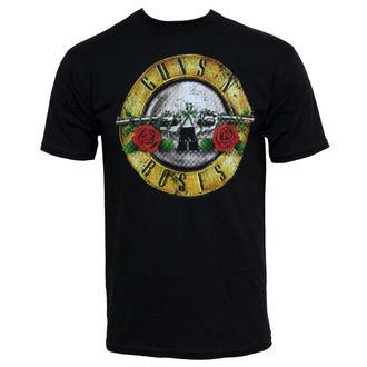 tričko pánske Guns N Roses - Distressed Bullet, BRAVADO, Guns N' Roses