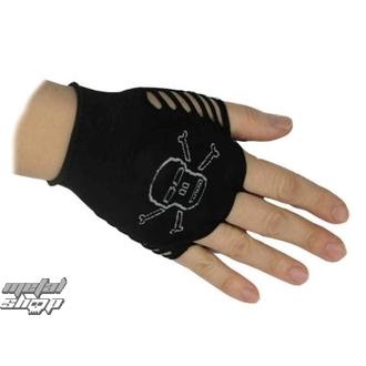 rukavice dámske bezprsté nylonové Lebka 1