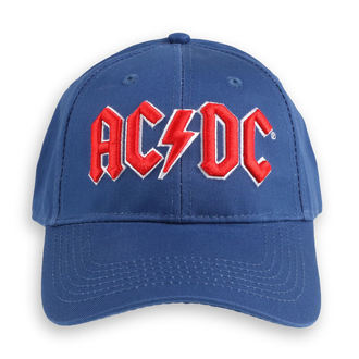 šiltovka AC/DC - Red Logo Mid-Blue - ROCK OFF, ROCK OFF, AC-DC