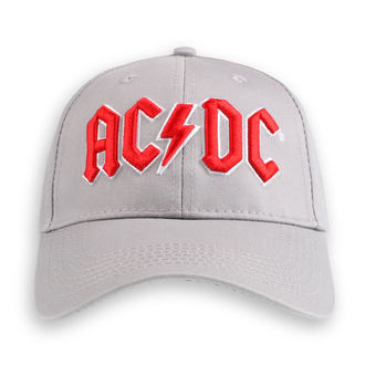 šiltovka AC/DC - Red Logo Grey - ROCK OFF, ROCK OFF, AC-DC