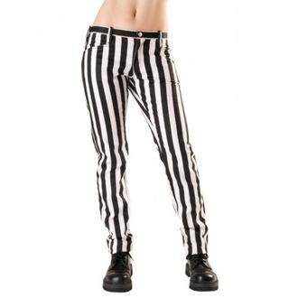 nohavice dámske Black Pistol - Close Pants Stripe Black / white, BLACK PISTOL