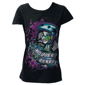 tričko dámske DARKSIDE - Roller Derby - Black