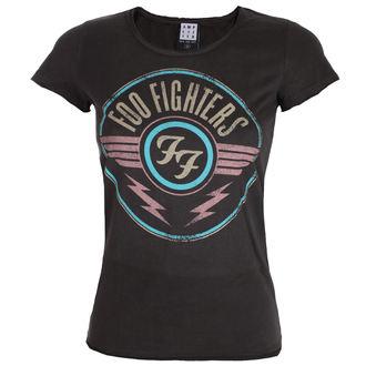 tričko dámske FOO FIGHTERS - CHARCOAL - AMPLIFIED, AMPLIFIED, Foo Fighters