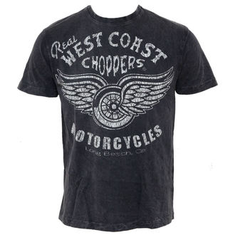 tričko pánske West Coast Choppers - Real Vintage - Black, West Coast Choppers