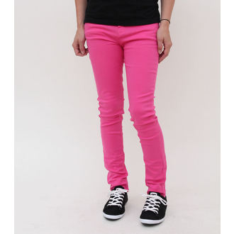 nohavice dámske HELL BUNNY - Super Skinny - Pink, HELL BUNNY