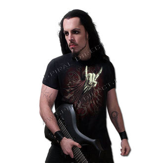 tričko pánske SPIRAL - Rock Salute - Blk - T067M101