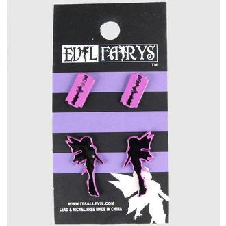 náušnice POIZEN INDUSTRIES - EFES1 - Fairy & Razorblade, EVIL FAIRYS