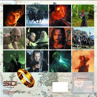 kalendár na rok 2013 Pán prsteňov - English & Spanish Version, NNM
