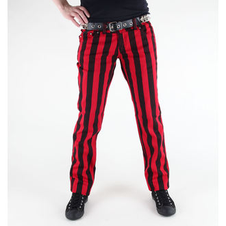 nohavice dámske 3RDAND56th - 1 Stripe Skinny Jeans - JM1111 - BLK-RED