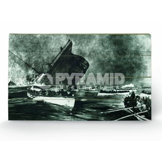 drevený obraz Titanic (13) - Pyramid Posters, PYRAMID POSTERS