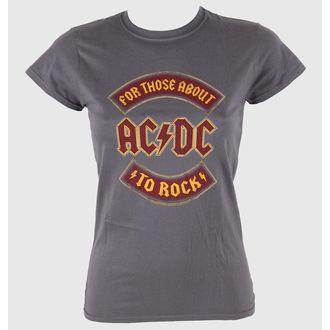 tričko dámske AC/DC - About To Rock Banner - LIVE NATION, LIVE NATION, AC-DC
