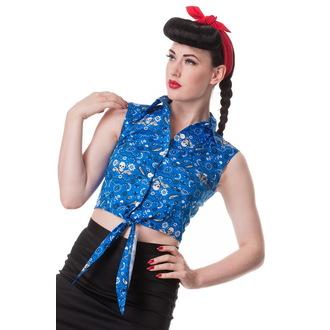 košele (vesta) dámska HELL BUNNY - Bandana - Blu, HELL BUNNY