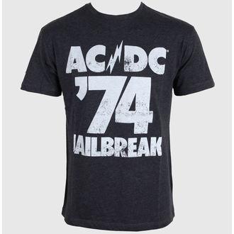 tričko pánske AMPLIFIED - AC/DC - Tour 74 Faded - Black, AMPLIFIED, AC-DC