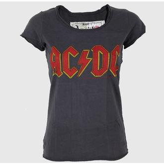 tričko dámske AMPLIFIED - AC/DC - Logo - Charcoal, AMPLIFIED, AC-DC