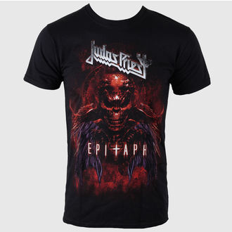 tričko pánske Judas Priest - Epitaph Red Horns - JPTEE07MB, ROCK OFF, Judas Priest