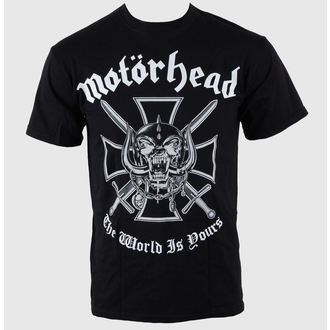 tričko pánske Motörhead - Iron Cross (The World is Yours) - MHEADTEE03MB, ROCK OFF, Motörhead
