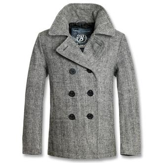 bunda pánska zimný (KABÁT) BRANDIT - Pea Coat Anthracite Heringbon, BRANDIT